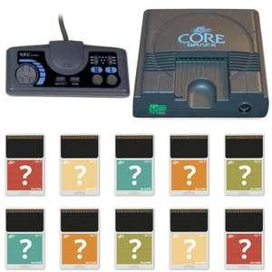 Konsole Core Grafx I + 10 Spiele + Orig Controller + Zubehör
