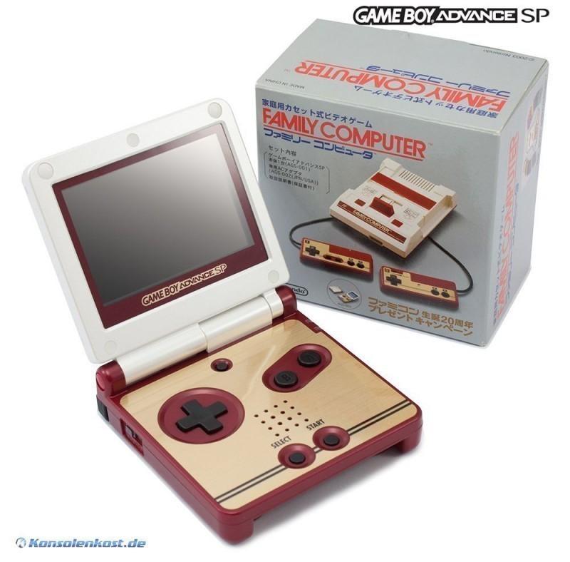 Konsole GBA SP #Famicom 20th Anniversary Edition + Netzteil
