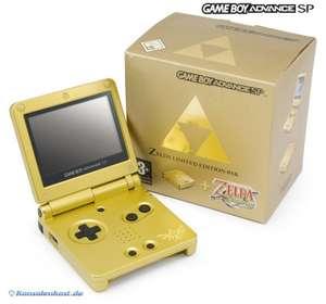 Konsole GBA SP #Zelda Edition inkl. Zelda + Netzteil + OVP gebraucht / wurde geöffnet