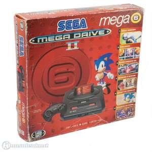 Konsole MD2 #Mega 6 + 6 Spiele + Original Controller + Zubehör